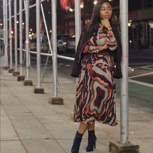 Dresses - Multi-print pleated Dress